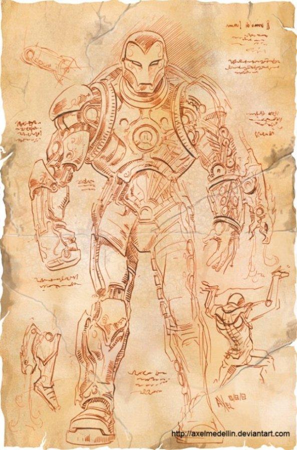 Et si Léonard de Vinci avait imaginé Iron Man (1)