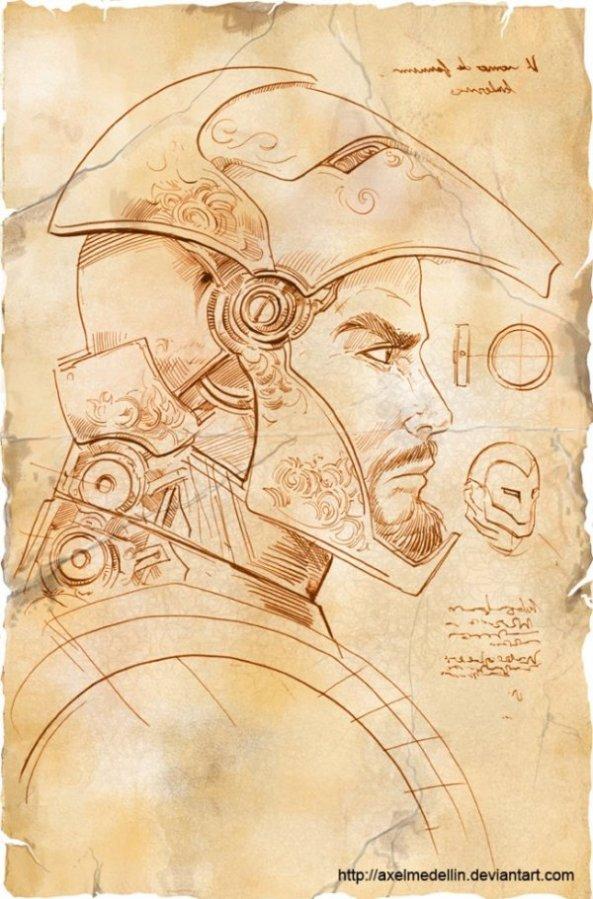 Et si Léonard de Vinci avait imaginé Iron Man 3