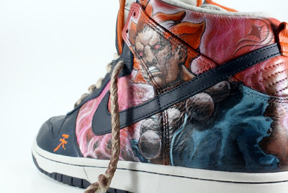 Nike Dunk High « Akuma » by Diversitile (2)