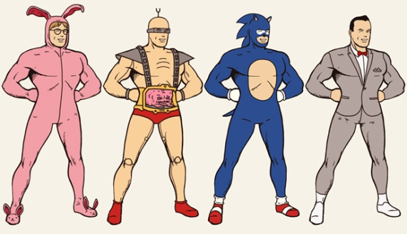 Superman-en-Bob-lEpongeMickeyJokerC3POLinkNed-FlandersSpock-.....-3