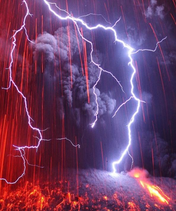 Eruption-Electrique-du-Sakurajima-2