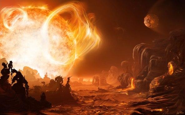 Un Dangereux Lever de Soleil sur Gliese 876d